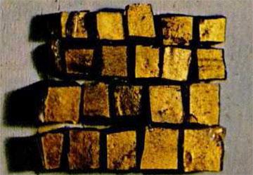 Βυζαντινές χρυσές ψηφίδες.