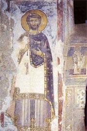 Μονή Τσαλέντζικχα, Γεωργία: οι τοιχογραφίες έγιναν από τον κωνσταντινουπολίτη αγιογράφο κυρ Μανουήλ Ευγενικό το 1384.