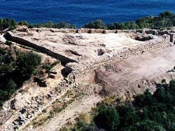 Άποψη από τα αρχαία Στάγειρα.