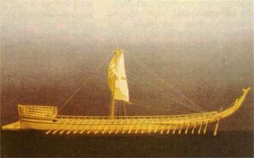Η πενηντάκωπη Αργώ. Ομοίωμα από το Ναυτικό Μουσείο Ελλάδος, Πειραιάς.