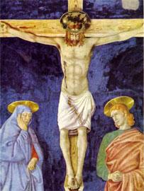 Ο Εσταυρωμένος του Χριστιανισμού στην εκδοχή της θυσίας. Andrea del Castagno (1421-1457), «Η Σταύρωση».