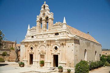 Η Ιερά Μονή Αρκαδίου στην Κρήτη.