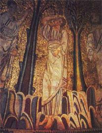 Τμήμα από το ψηφιδωτό του τρούλου στην Αγία Σοφία Θεσσαλονίκης.