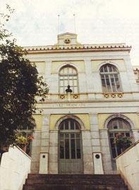 Εξωτερική όψη της βιβλιοθήκης της Γαλλικής Αρχαιολογικής Σχολής.