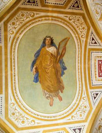 Ο ζωγραφικός διάκοσμος του Ιλίου Μελάθρου μετά από τις εργασίες συντήρησης.