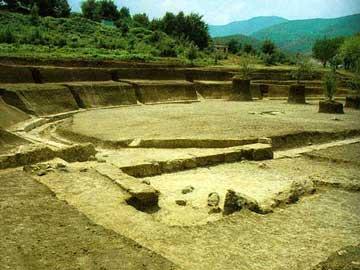 Το αρχαίο θέατρο της Βεργίνας.