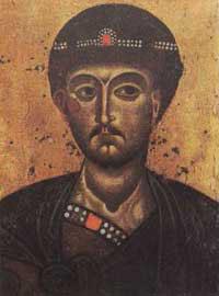 Λεπτομέρεια εικόνας Αγ. Δημητρίου από το Ντμίτροβ.