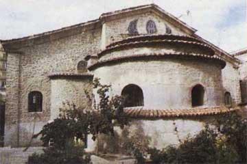 Ναός Αγίου Μηνά, η κόγχη του ιερού.