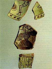 Βυζαντινά sgraffiti από τον Τύρναβο.