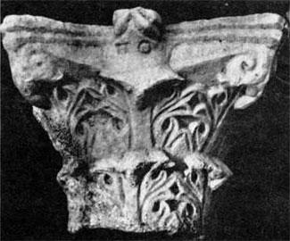 Βυζαντινό κιονόκρανο από άσπρο Προκονήσιο μάρμαρο. Βρέθηκε σε ναυάγιο ανοιχτά της Σικελίας.