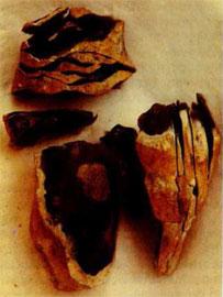 Ανασύνδεση των αποτελεσμάτων ενός πυρήνα από πυριτόλιθο της νεότερης παλαιολιθικής από την Cl. Karlin, Pincevent, Γαλλία.