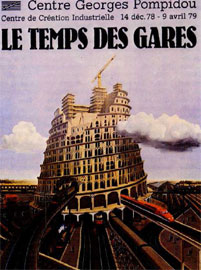 «Η εποχή των σιδηροδρομικών σταθμών». Αφίσα από το βιβλίο Plakate der Zwanziger Jahre, Staatlichen Museen Berlin.