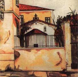 Σχέδιο του ναού του Αγίου Ελισαίου στην Πλάκα, προτού κατεδαφιστεί το 1943.