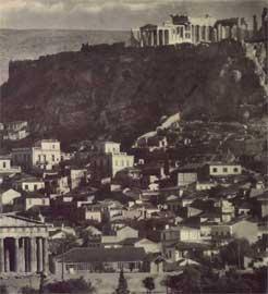 Fred Boissonas, Άποψη της Ακρόπολης από το Θησείο το 1920.