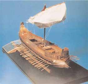 Μοντέλο αναπαράστασης της Σάμαινας, κατασκευασμένο από τον Ηλ. Καρδίμη.