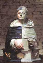 Αφαίρεση λευκού στρώματος του 18ου αι. από το ξύλινο άγαλμα του Αγίου Θωμά του 17ου αι.