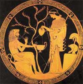 Η Αθηνά και ο Ηρακλής. Ερυθρόμορφη κύλικα, 470 π.Χ., Μόναχο.
