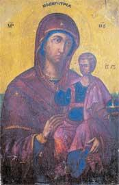 Η Β΄ όψη της εικόνας της Παναγίας Οδηγήτριας.