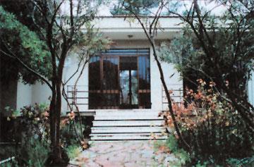 Η είσοδος του Μουσείου Βαθέος Ιθάκης.