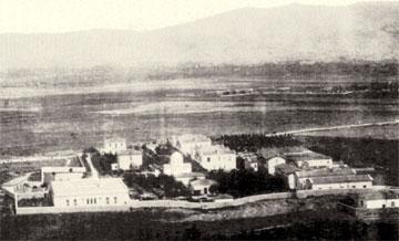 Γενική άποψη του Δρομοκαϊτειου Φρενοκομείου στις αρχές του 20ού αιώνα