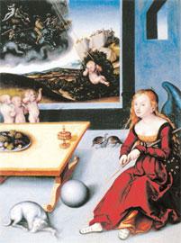 Μελαγχολία, Lucas Cranach ο πρεσβύτερος, 1532, Μουσείο Unterlinden, Colmar (λάδι σε ξύλο, 76,5x56 εκ.)