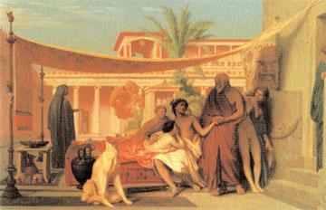 Ο Σωκράτης αναζητά τον Αλκιβιάδη στο σπίτι της Ασπασίας. Πίνακς του Jean-Léon Gérôme, 1861.