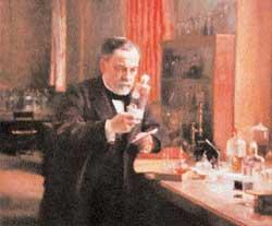 Ο Λουί Παστέρ στο εργαστήριό του.