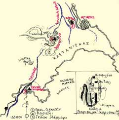Χάρτης της περιοχής.