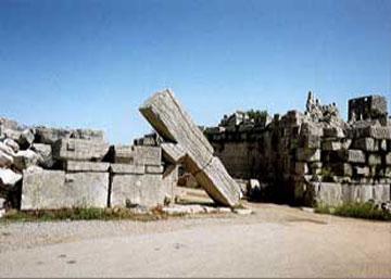 Η Αρκαδική Πύλη στην αρχαία Μεσσήνη