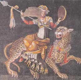Ο θεός Διόνυσος επάνω σε πάνθηρα.