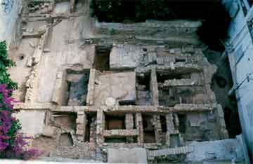 Οικία Β. Καραγιάννη (πρώην Αυγουστάκη). Γενική άποψη της ανασκαφής