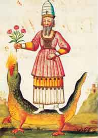 Οστάνης ο Μήδος, δάσκαλος του Βώλου της Μένδης, μικρογραφία του 17ου αι.