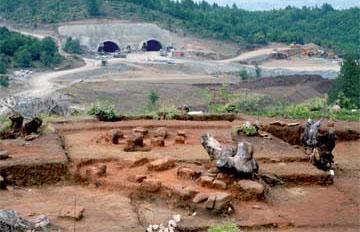 Ο χώρος της ανασκαφής στα Πριόνια Γρεβενών.