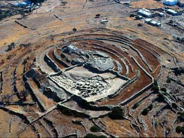 Άποψη του αρχαιολογικού χώρου του Σκάρκου, που τιμήθηκε με το Βραβείο Πολιτιστικής Κληρονομιάς της Ε.Ε. και της Europa Nostra
