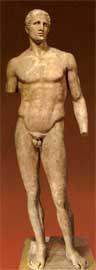 Το άγαλμα του Αγία, στο Μουσείο των Δελφών.