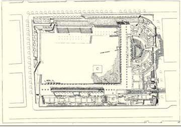 Η αγορά της Θεσσαλονίκης (αξονομετρική αναπαράσταση).