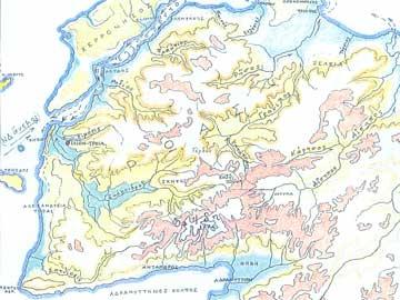 Η χερσόνησος της Τρωάδας σύμφωνα με την περιγραφή του γεωγράφου Στράβωνα (Μάλφας 1998).
