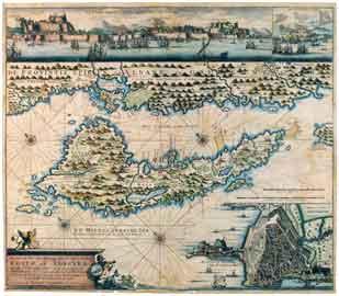 Χάρτης της Κέρκυρας, από τη συλλογή του ΜΙΕΤ.