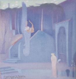 Κωνσταντίνος Παρθένης, Ευαγγελισμός, λάδι, Εθνική Πινακοθήκη.