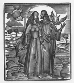 Άσμα Ασμάτων, ξυλογραφία του Γιάννη Κυριακίδη για την έκδοση του 2000 (εκδ. Καστανιώτη και Διάττων).