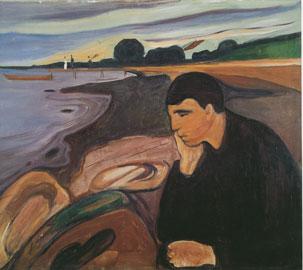 Edvard Munch, Μελαγχολία, 1894-95, ελαιογραφία, Bergen Kunstmuseum, Μπέργκεν.