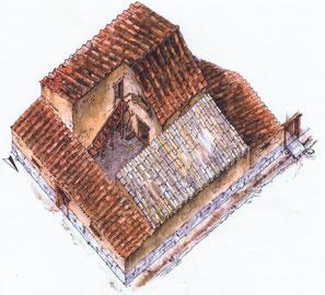 Πρόταση αναπαράστασης μιας ελληνιστικής κατοικίας της Λευκάδας.