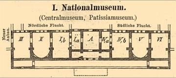 1. Κάτοψη του Εθνικού Αρχαιολογικού Μουσείου το 1881 (κατάλογος Μilchhöfer).