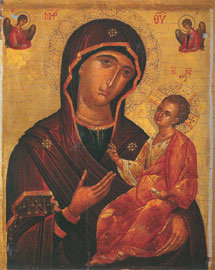 Παναγία Οδηγήτρια, 15ος αι., 0,503x0,41 μ. Αθήνα, Βυζαντινό Μουσείο (Λ154-ΣΛ153).