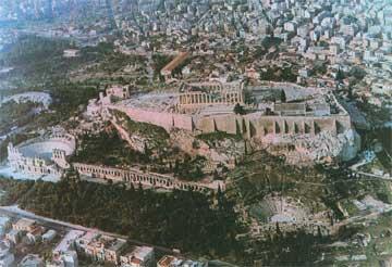 Η Ακρόπολη της Αθήνας και η Νότια Κλιτύς (αεροφωτογραφία).