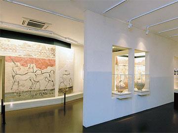 Εθνικό Αρχαιολογικό Μουσείο. Αίθουσα της Θήρας. Οι τοιχογραφίες και τα αγγεία των δελφινιών, 2005.