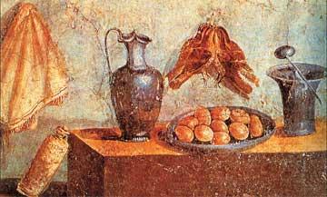 Πομπηία, Νεκρή φύση, τοιχογραφία.