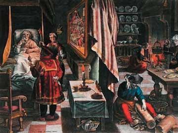Παρασκευή και χρήση του φυτού Guayaco για τη θεραπεία της σύφιλης, Jan van der Straet, π. 1570.