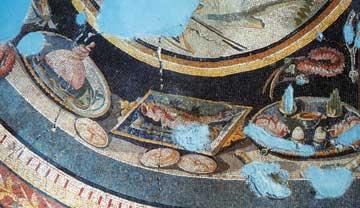 Λεπτομέρεια ρωμαϊκού ψηφιδωτού από οικία στη Δάφνη, προάστιο της Αντιόχειας επί του Ορόντη. Τουρκία, 3ος αι. μ.Χ.