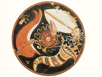 Ιχθυοπινάκιο από την Κανόσα της Απουλίας. Τρίτο τέταρτο του 4ου αι. π.Χ. Αδημοσίευτο. Συλλογή Florence Gottet.